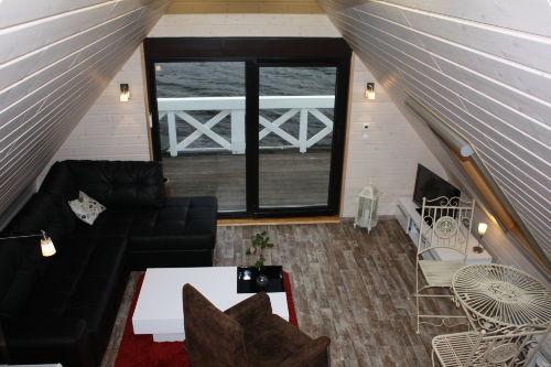 Wohnzimmer im Bootshaus