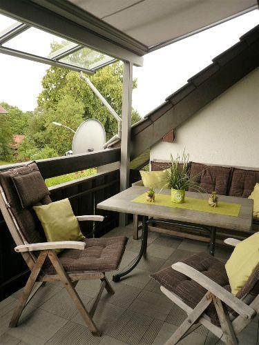 Gemütlicher Balkon