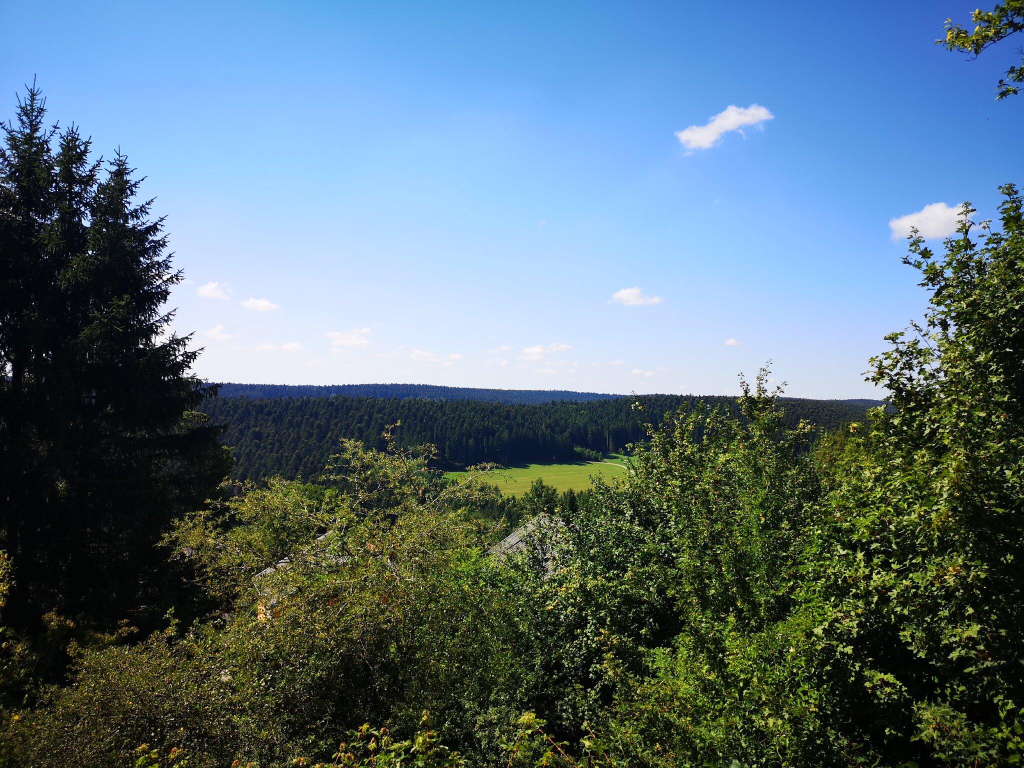 Aussicht vom Balkon der 3-Sterne-Ferienw