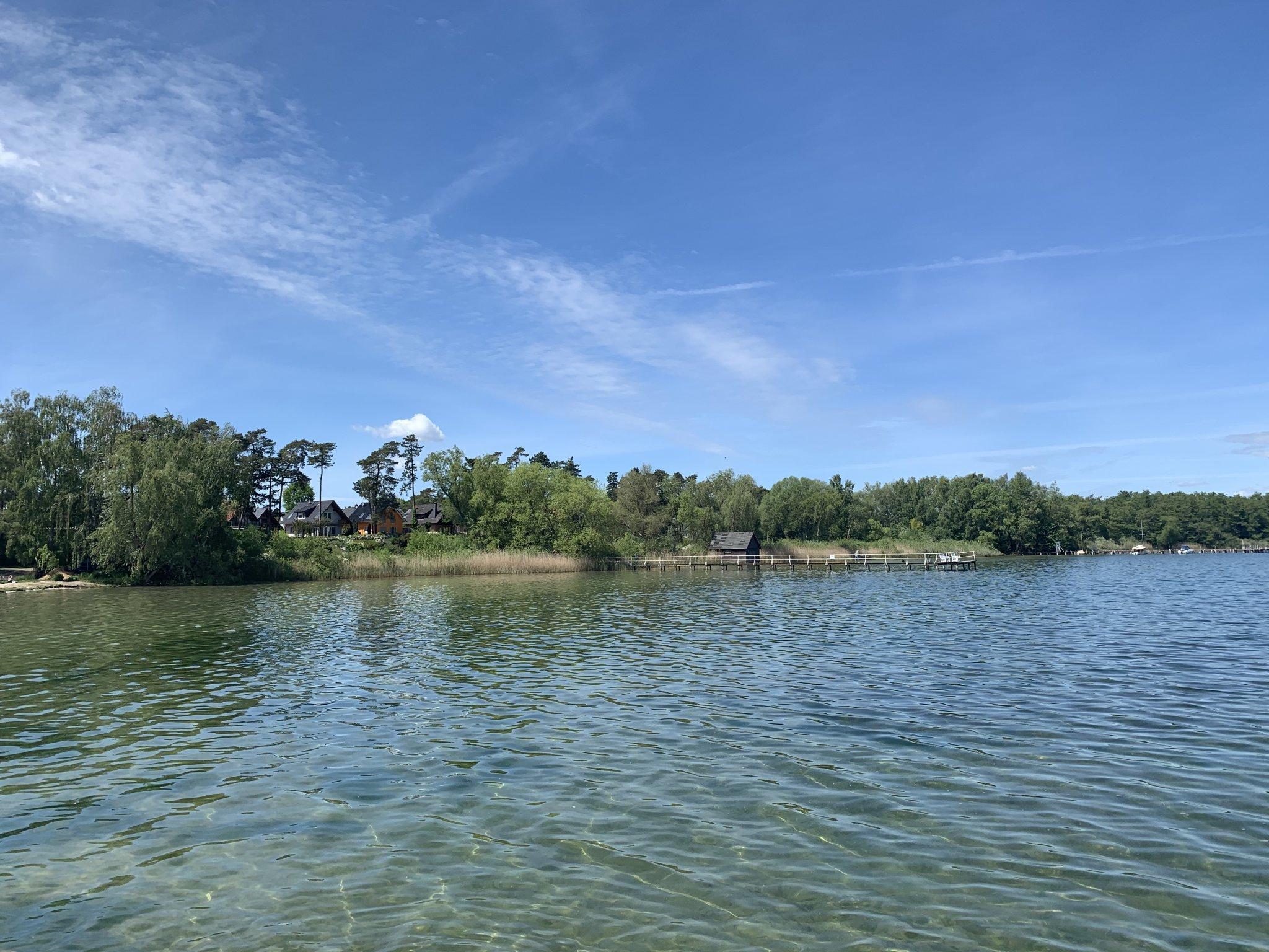 Blick vom Haus auf den Müritzsee