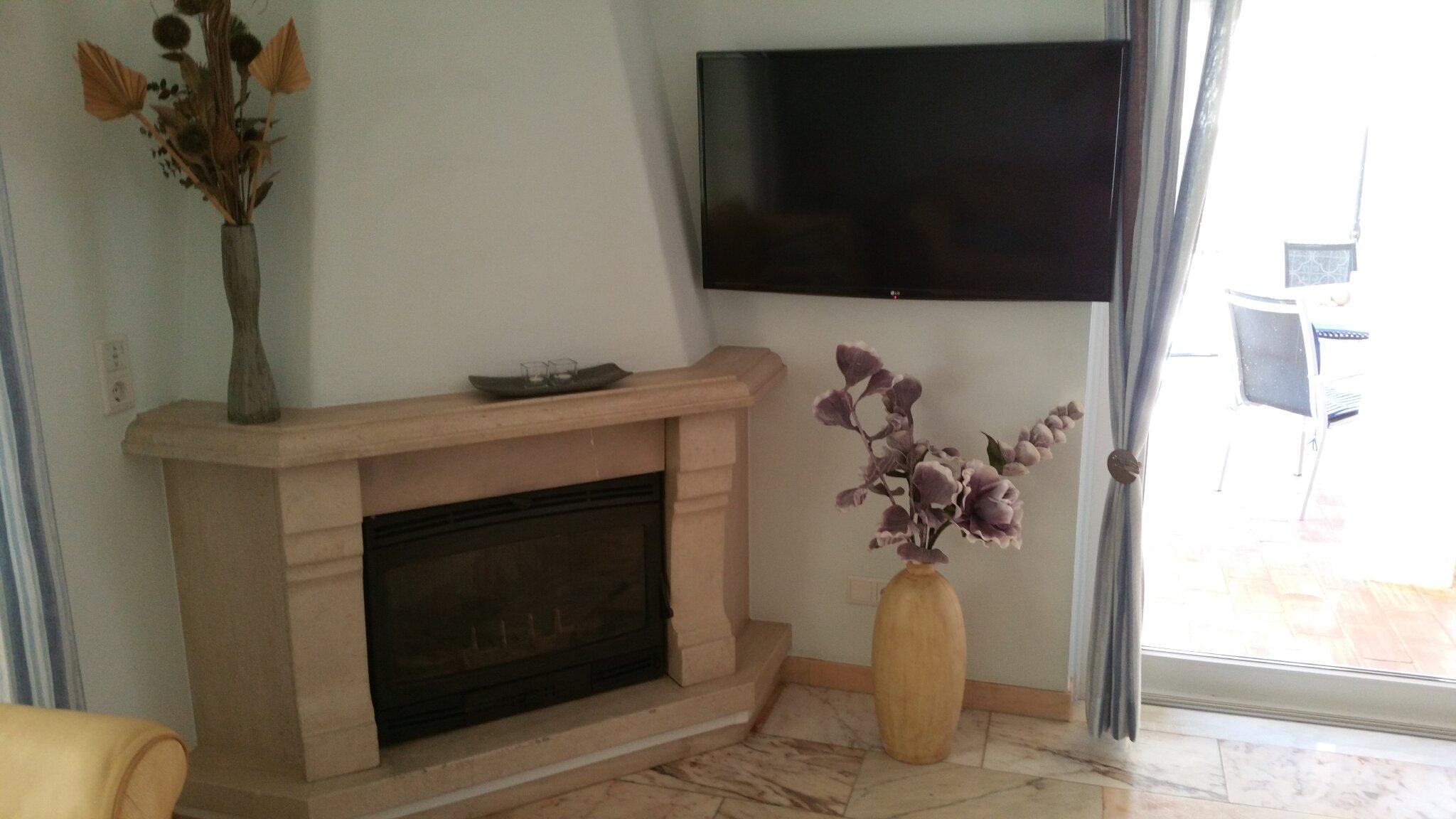 Kamin mit TV