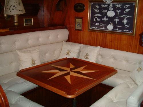 Innenansicht der Yacht