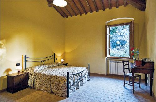 Schlafzimmer der Ferienwohnung ROSINA