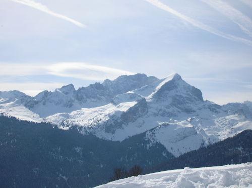 Alpspitze mit Blick von einer Skitour