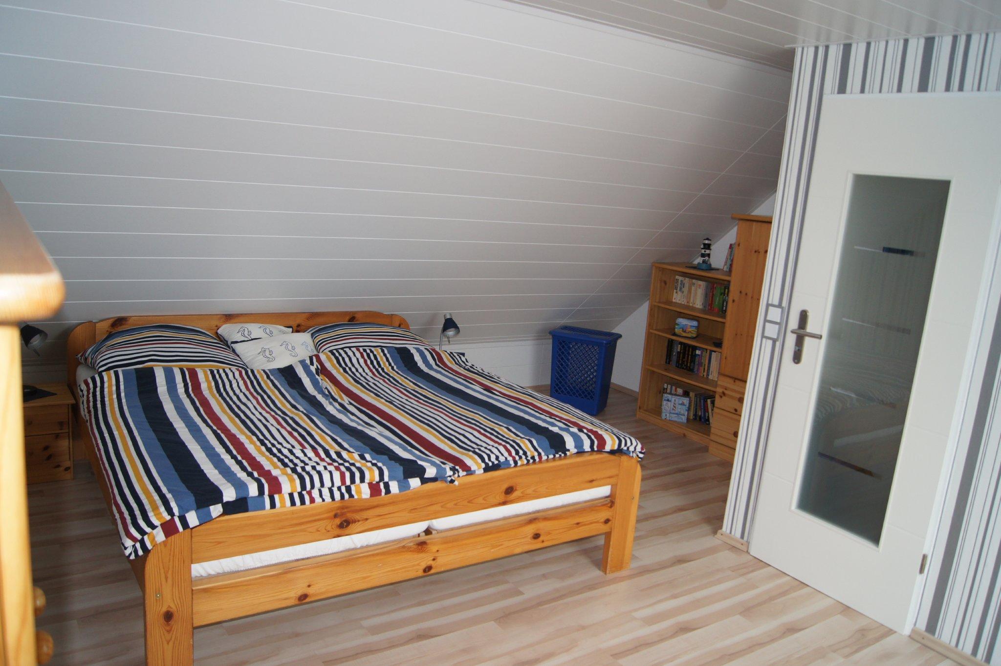 Dachboden Doppelbett