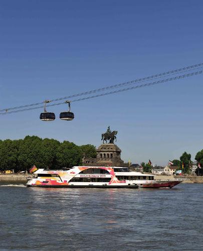 Seilbahn über den Rhein in Koblenz