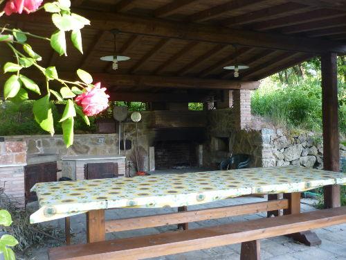 Loggia mit Sommerk�che und Grill
