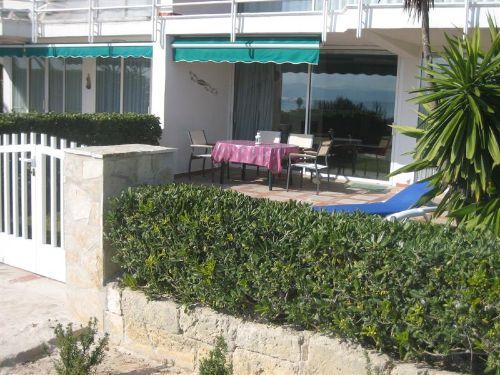 Garten vom Strand aus gesehen