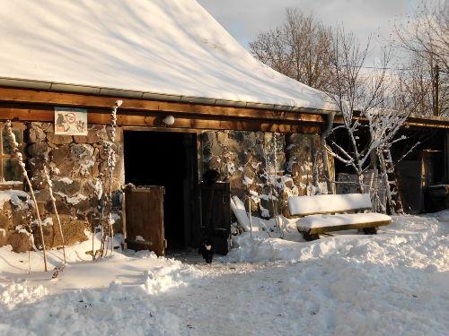 Pferdestall im Winter