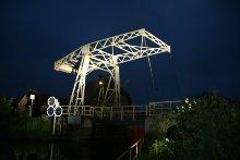 Zugbrücke Altfriesack bei Nacht