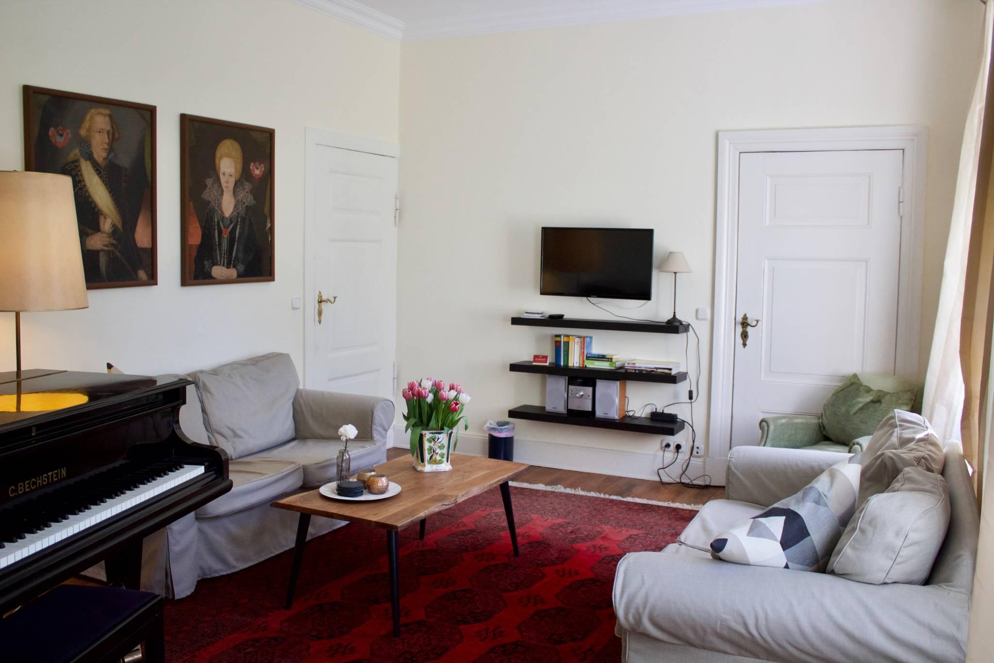 Wohnzimmer mit Bechsteinflügel