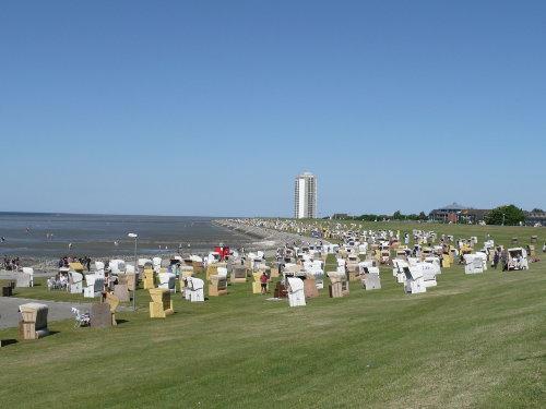 Panorama vom Grasstrand