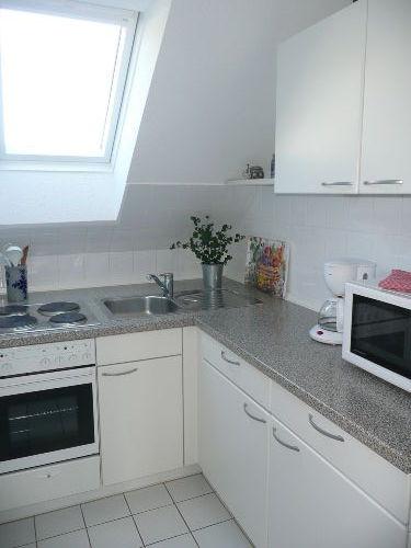 Die Küche in der Wohnung