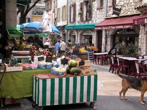 Vence, t�glicher Markt in der Altstadt