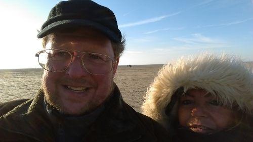 Im kalten Februar den Strand genießen !
