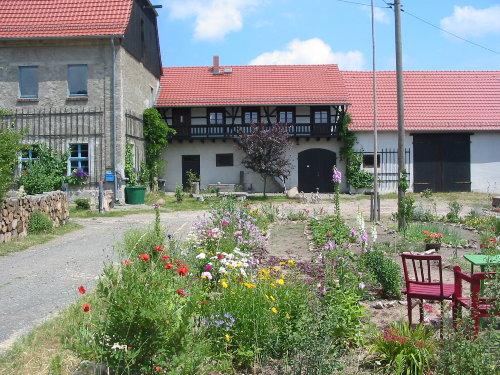 Blick auf Ferienwohnung im alten Gutshof