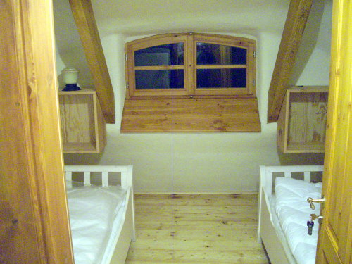 Schlafzimmer Nordseite im Dachgeschoß