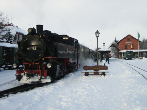 Schmalspurbahn -Bahnhof Bertsdorf