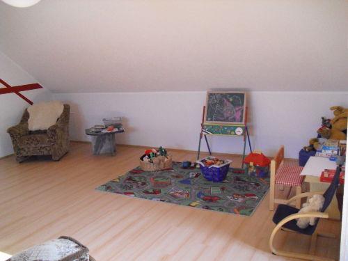 Spielecke im Wohnzimmer