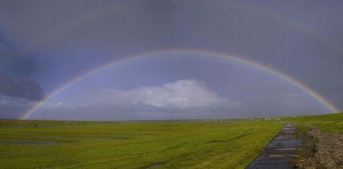 Regenbogen am Außendeich