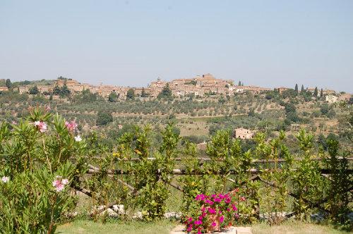 Blick auf den romantischen Ort Montisi