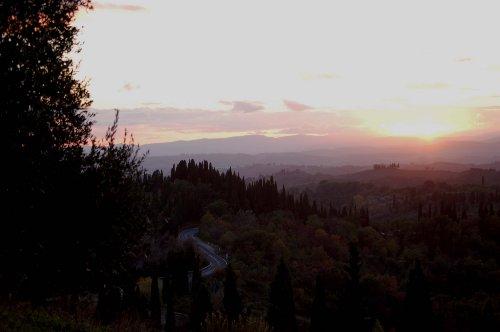 Blick von Pascianella Richtung Siena
