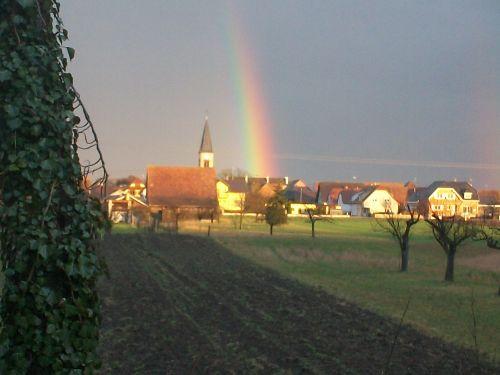 Blick auf das Dorf...