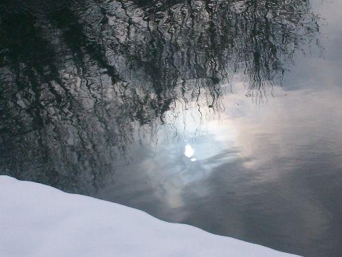 unser Kanal im Winter...