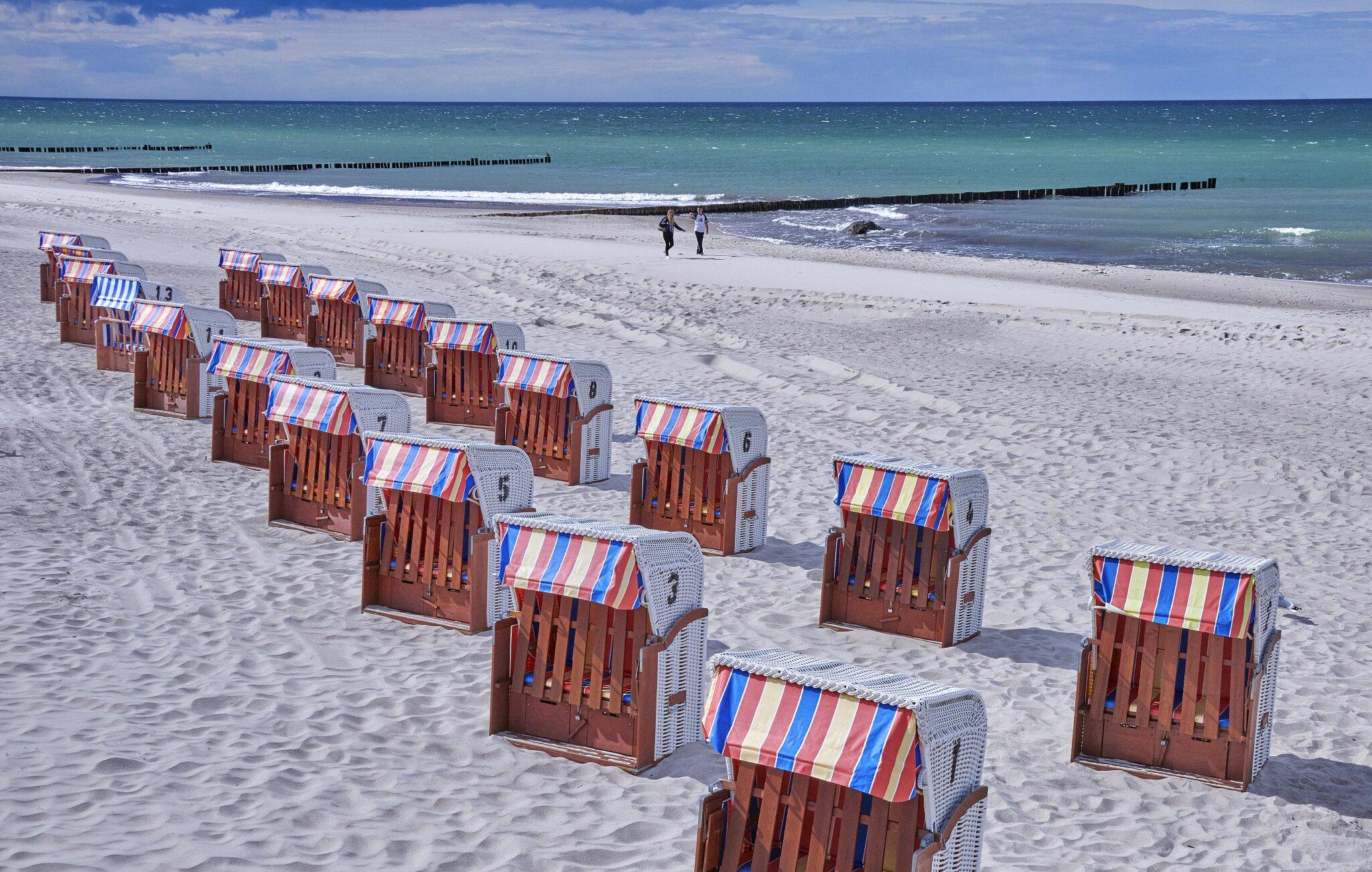 Der Strand in Kühlungsborn.