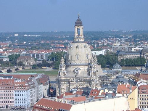 Blick auf Dresden mit Frauenkirche