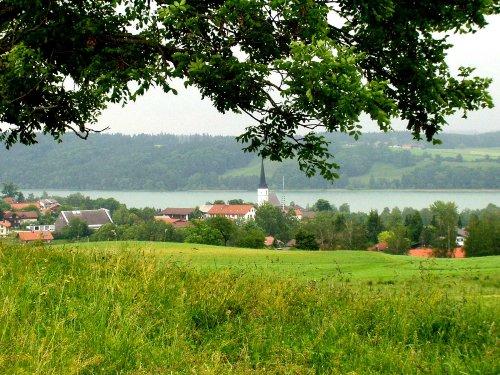 Blick auf Tachinginger See 3 Km entfernt