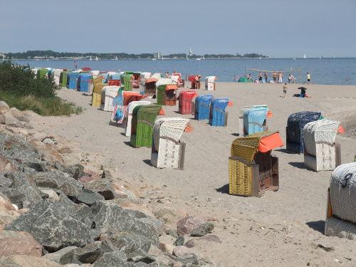 Strandkorbvermietung vor Ort