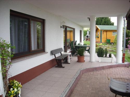 Terrasse, Gartenteich, Gartenhaus