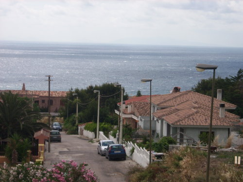 Vor dem Haus Blick zum Meer