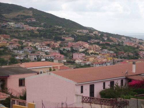 Blick von der Terrasse zum Meer