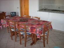 Wohnzimmer mit Küchennische