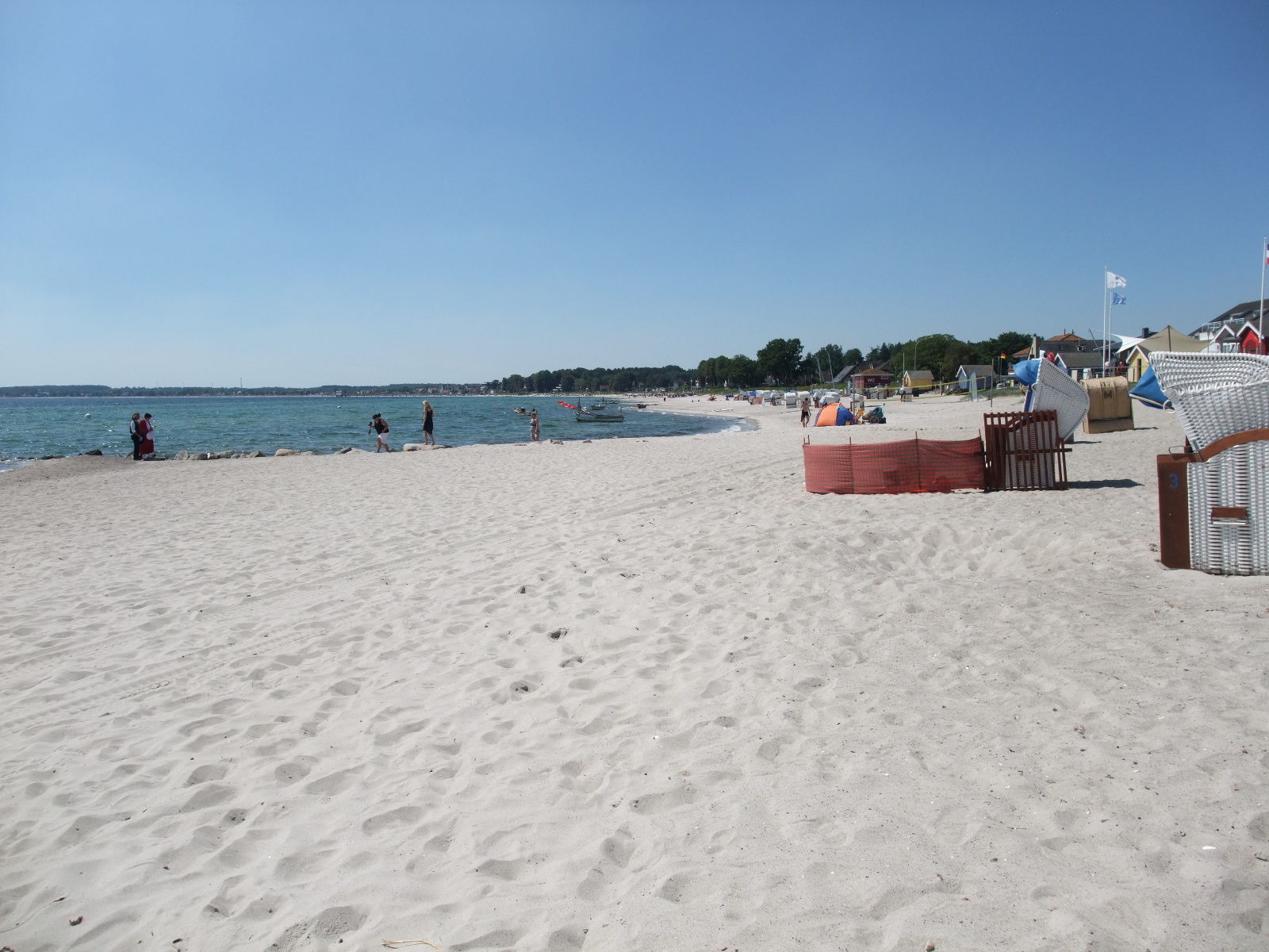 toller Strand vor der Tür