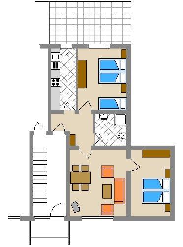 Grundriss Wohnung Typ IV