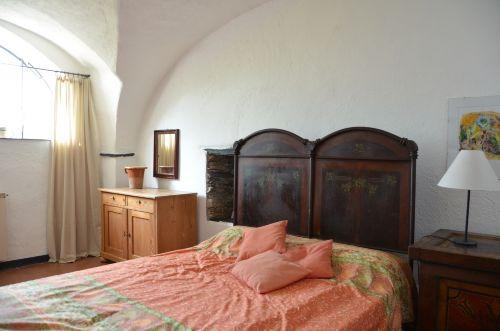 Schlafzimmer im Kreuzgewölbe