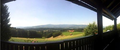 herrliche Aussicht vom Balkon