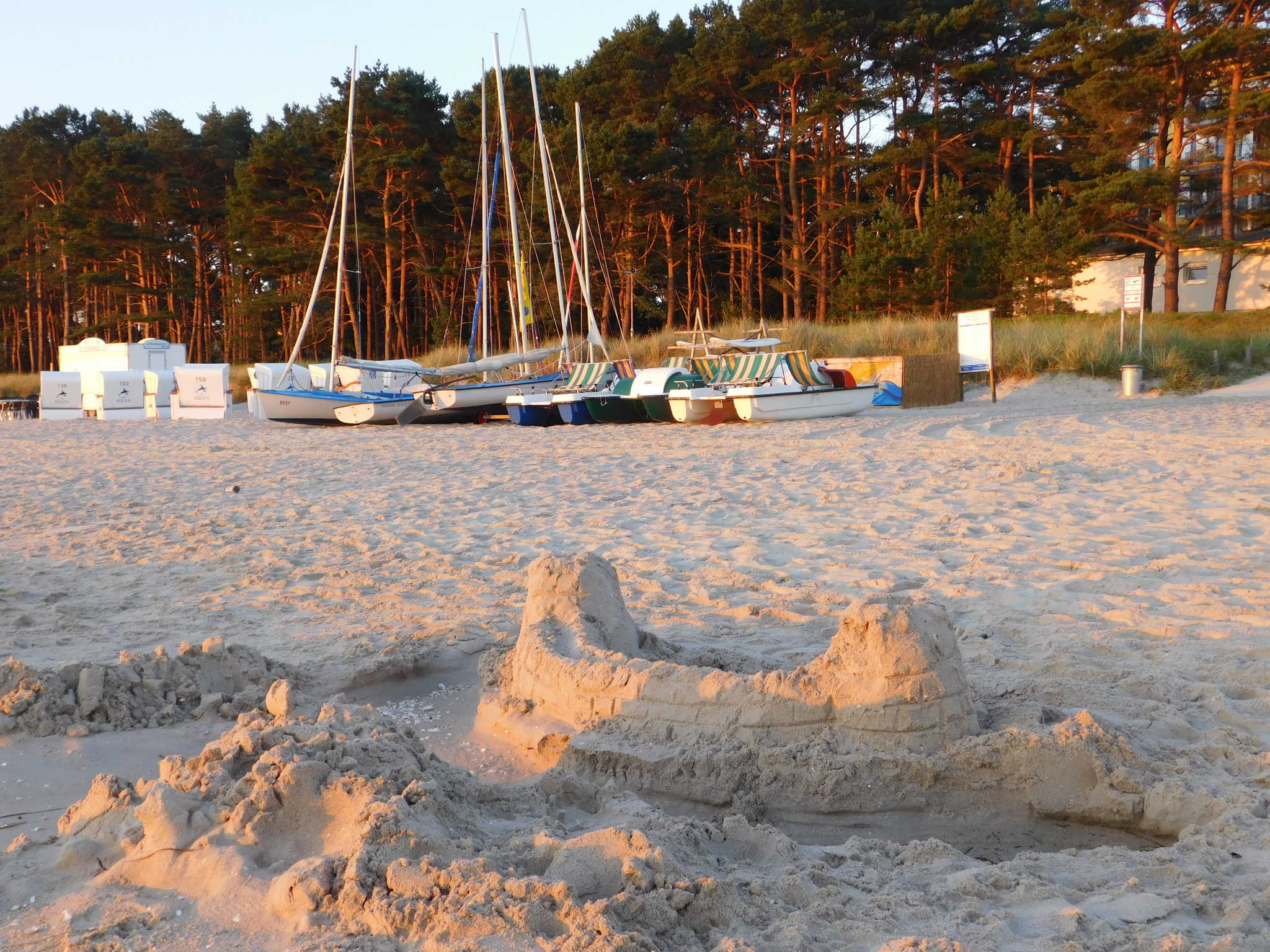 Urlaubssonne an unserem Strandabschnitt.