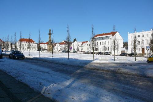 Putbus - die weiße Stadt im Winter.