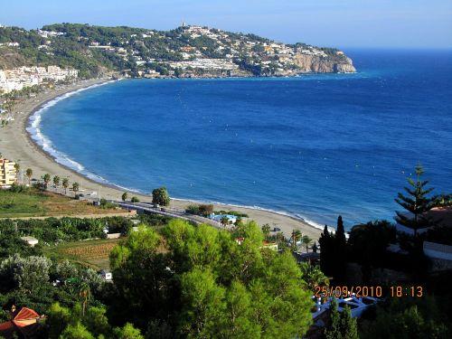 Blick von Pena Parda auf die Bucht