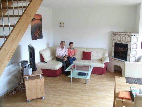 Wohnzimmer mit unseren ersten G�sten
