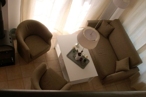 Blick auf die gemütliche Sitzecke