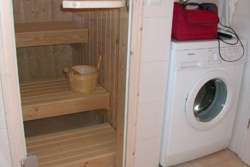 Sauna und Waschmaschine
