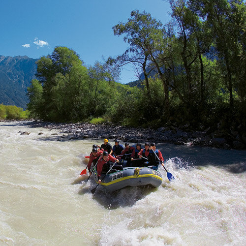 Rafting auf der Ötztaler Ache