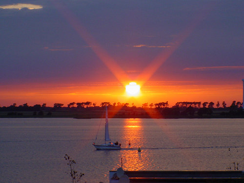 Sonnenuntergang auf Fehmarn