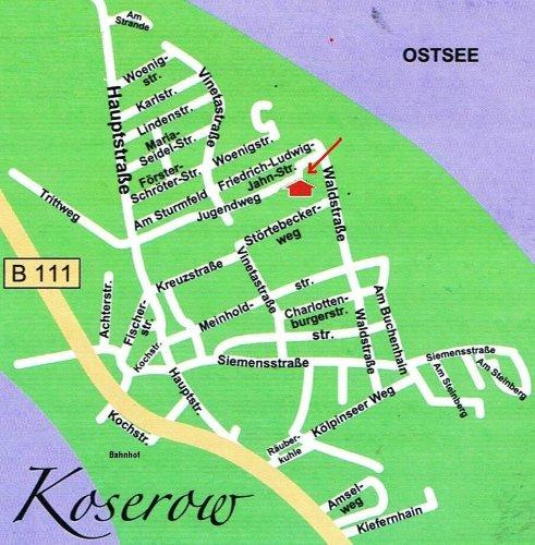 Lageplan Koserow