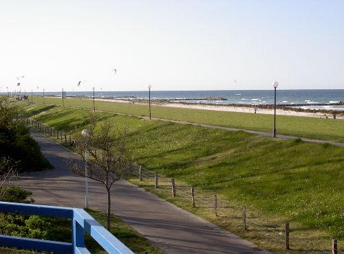 Blick vom Balkon zur Kieler Förde